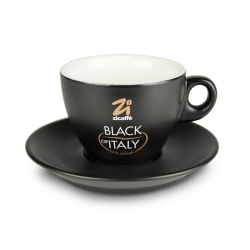 Black of Italy cappuccino cup