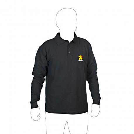 Long sleeved cotton polo