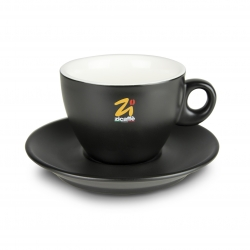 Black goblet cappuccino cup