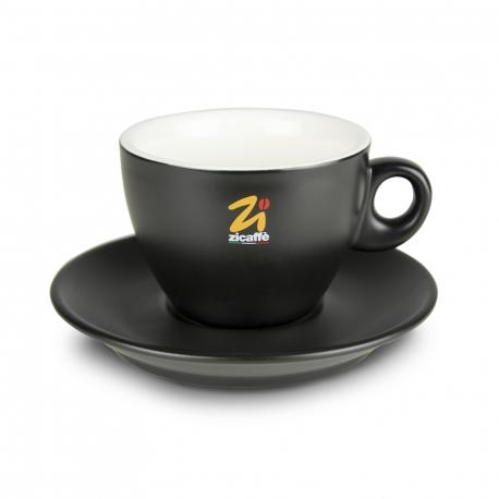 Black goblet cappuccino cup